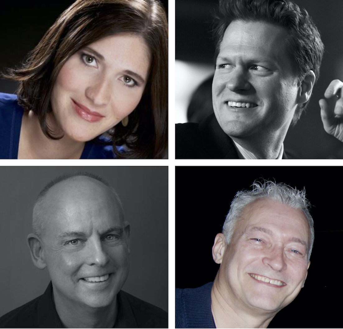 Pictured Clockwise from top left: Jessica Kimple, David Steinberger, J.David Williams and Richard Pearson Thomas.